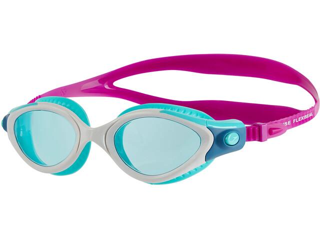 speedo Futura Biofuse Flexiseal Naiset uimalasit , vaaleanpunainen/turkoosi